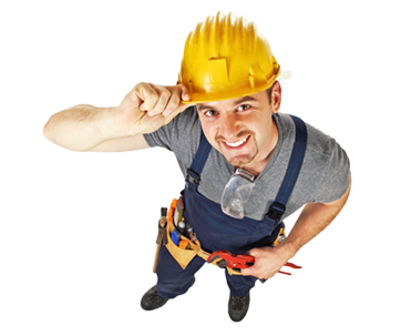 in and out construction worker